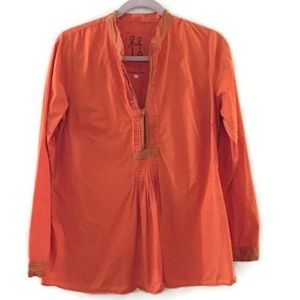 JOHNNY WAS PETE & GRETA Orange Boho tunic blouse